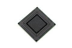 Terug van moderne microprocessor Stock Afbeeldingen