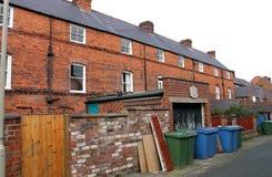 Terug van terrashuizen stock fotografie