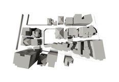 Teruggegeven 3d model van een stad Royalty-vrije Stock Foto's