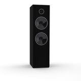 Teruggegeven 3d zwarte luidsprekerstoren Stock Foto's