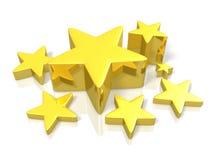 Teruggegeven beeld die Lucky Star afschilderen Royalty-vrije Stock Afbeeldingen