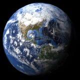 Teruggegeven driedimensionele aarde Royalty-vrije Stock Fotografie