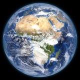 Teruggegeven driedimensionele aarde Stock Afbeeldingen