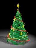 Teruggegeven gestileerde de pijnboomboom van Kerstmis Royalty-vrije Stock Afbeelding