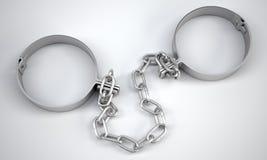Teruggegeven handcuffs het 3d teruggeven Royalty-vrije Stock Afbeelding