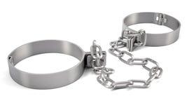 Teruggegeven handcuffs het 3d teruggeven Royalty-vrije Stock Afbeeldingen