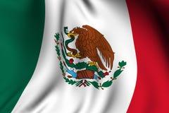 Teruggegeven Mexicaanse Vlag Stock Afbeelding