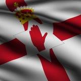 Teruggegeven Noordelijke Ierse Vierkante Vlag Royalty-vrije Stock Afbeeldingen