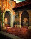 Teruggegeven villa 3D stock illustratie