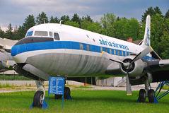 Teruggetrokken Adria Airways Aircraft op Vertoning Stock Foto
