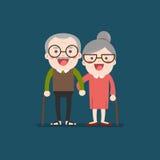 Teruggetrokken bejaard hoger leeftijdspaar Stock Afbeeldingen