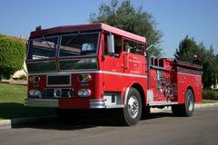Teruggetrokken Firetruck stock fotografie