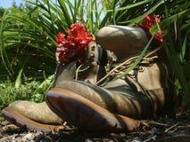 Teruggetrokken laarzen Stock Afbeelding