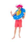 Teruggetrokken mens op vakantie Royalty-vrije Stock Foto