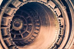 Teruggetrokken straalmotor Stock Foto's