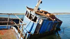 Teruggetrokken vissersboten Royalty-vrije Stock Fotografie