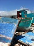 Teruggetrokken vissersboten Royalty-vrije Stock Foto