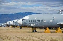 Teruggetrokken Vliegtuigen bij AMARG Boneyard Royalty-vrije Stock Afbeeldingen