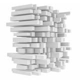 Teruggevend high-tech die bouw van vierkante buizen op witte achtergrond wordt gemaakt Royalty-vrije Stock Foto