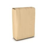 Teruggevend zak cement op witte achtergrond wordt geïsoleerd die Royalty-vrije Stock Afbeelding