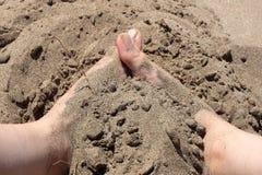 Terugkeer naar zand 4 Stock Fotografie