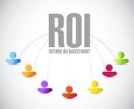 terugkeer op het netwerkillustratie van investeringsmensen Stock Fotografie