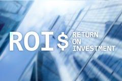 Terugkeer op Investerings Financieel Beheer Opbrengstconcept Virtuele het schermachtergrond royalty-vrije stock afbeelding