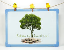 Terugkeer op investeringsconcept royalty-vrije stock afbeelding