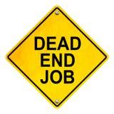 Återvändsgränd Job Road Sign Isolated på vit Arkivfoton