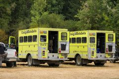 Terwilliger Fire Camp in Willamette National Forest Royalty Free Stock Photo