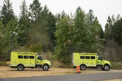 Terwilliger Fire Camp in Willamette National Forest Stock Image