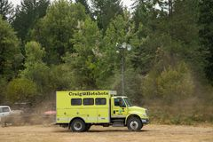Terwilliger Fire Camp in Willamette National Forest Stock Images