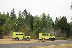 Terwilliger Fire Camp in Willamette National Forest Royalty Free Stock Photography