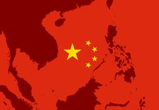 Terytorium chiny południowi morze royalty ilustracja