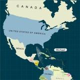Terytorium Stany Zjednoczone Ameryka Floryda Huragan - burza Michael Huragan szkoda również zwrócić corel ilustracji wektora royalty ilustracja