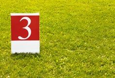 Terza foto di concetto di numero 3 (tre) fotografie stock