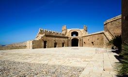 Terza recinzione a castello fortificato di Almeria, Spagna Fotografia Stock