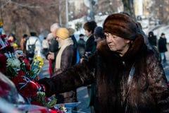 Terzo anniversario delle uccisioni degli attivisti di Euromaidan Fotografia Stock