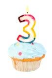 Terzo compleanno immagine stock libera da diritti