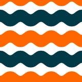 Terzo modello senza cuciture verticale blu arancio astratto semplice di forma di Epta Wave Fotografia Stock