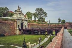 Terzo portone, Carolina Citadel bianca, Alba Iulia immagini stock libere da diritti
