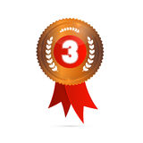 Terzo posto, medaglia di bronzo Fotografie Stock