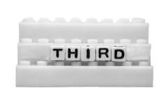 Terzo testo sui punti bianchi Immagine Stock Libera da Diritti
