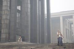 Tesão à respiração em Moscovo em 2010 august Imagem de Stock Royalty Free