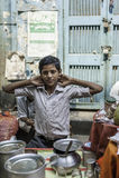 Tesäljare i Kolkata, Indien Royaltyfri Fotografi