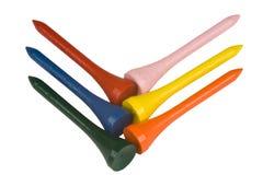 Tes de golf coloreadas Foto de archivo libre de regalías