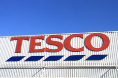 Tesco. Shot of Tesco store logo Royalty Free Stock Image