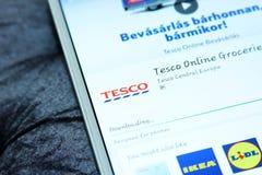 Tesco app móvel Imagens de Stock Royalty Free