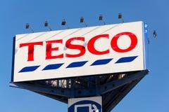 Tesco company logo on the supermarket building Royalty Free Stock Photography