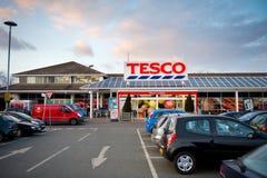 Tesco entreposé dans Droylsden, Manchester, R-U Images stock